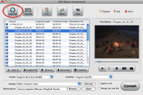 DVD to Mac Hard Drive