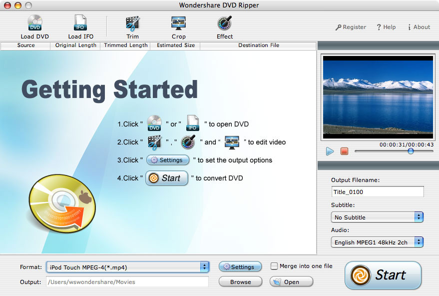 IFO Video Converter for Mac OS